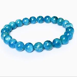 Light Blue Apatite Beaded Bracelet